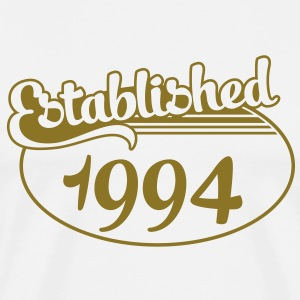 Birthday-Shirt - Geburtstag - Established 1994 (dk) T-shirts - Herre premium T-shirt