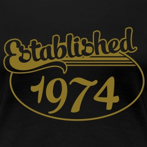 Birthday-Shirt - Geburtstag - Established 1974 (uk) T-Shirts - Women's Premium T-Shirt