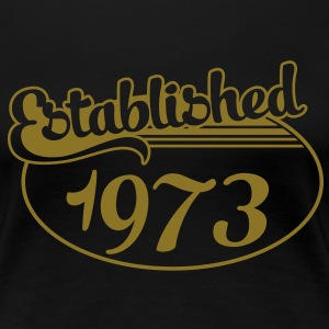 Birthday-Shirt - Geburtstag - Established 1973 (nl) T-shirts - Vrouwen Premium T-shirt
