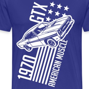 1970 Plymouth GTX stars and stripes - Men's Premium T-Shirt