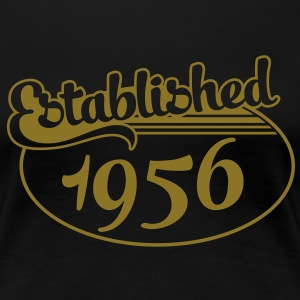 Birthday-Shirt - Geburtstag - Established 1956 (no) T-skjorter - Premium T-skjorte for kvinner