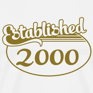 Birthday-Shirt - Geburtstag - Established 2000 (es) Camisetas - Camiseta premium hombre