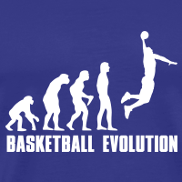 Zoom: Men's Premium T-Shirt with design Evolution Basketball Dunk