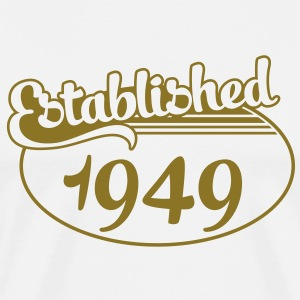 Birthday-Shirt - Geburtstag - Established 1949 (no) T-skjorter - Premium T-skjorte for menn