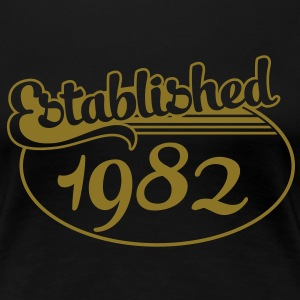 Birthday-Shirt - Geburtstag - Established 1982 (sv) T-shirts - Premium-T-shirt dam