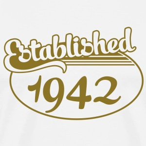 Birthday-Shirt - Geburtstag - Established 1942 (dk) T-shirts - Herre premium T-shirt