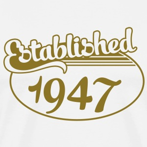 Birthday-Shirt - Geburtstag - Established 1947 (nl) T-shirts - Mannen Premium T-shirt