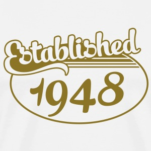 Birthday-Shirt - Geburtstag - Established 1948 (nl) T-shirts - Mannen Premium T-shirt