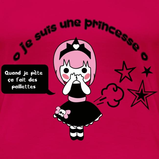 t shirt femme je suis une princesse