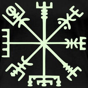 Vegvísir (Viking Compass) / Glow in the Dark T-Shirts - Women's Premium T-Shirt