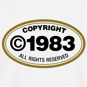 Copyright 1983 1 (2c)++ T-Shirts - Men's Premium T-Shirt