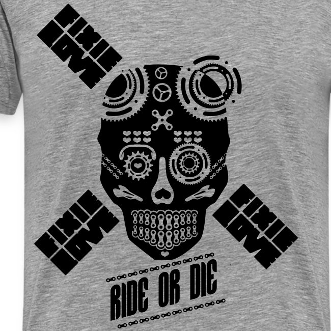 ride or die skull bike