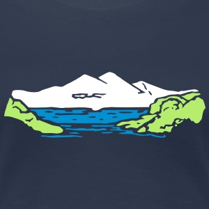 Alm mountain lake mountains t- shirt, tshirt T-Shirts - Women's Premium T-Shirt
