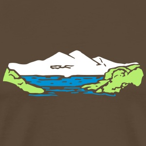 Alm mountain lake mountains t- shirt, tshirt T-Shirts - Men's Premium T-Shirt