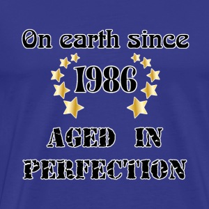 on earth since 1986 T-shirts - Herre premium T-shirt