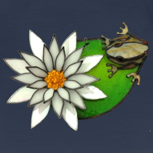 frog on a lilly pad - Women's Premium T-Shirt