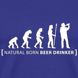 evolution_beer_drinker T-Shirts - Männer Premium T-Shirt