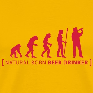evolution_beer_drinker T-Shirts - Men's Premium T-Shirt
