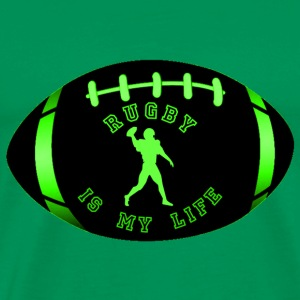 rugby is my life T-Shirts - Men's Premium T-Shirt