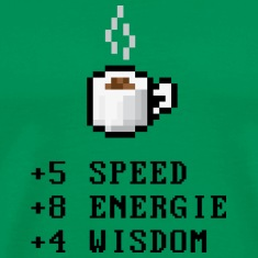 Pixelcoffee with Stats, Nerd T-Shirts