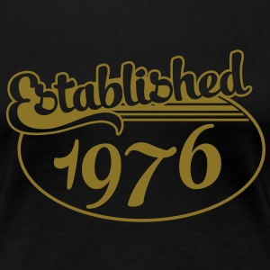 Birthday-Shirt - Geburtstag - Established 1976 (no) T-skjorter - Premium T-skjorte for kvinner
