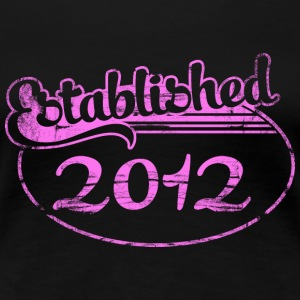established 2012 (no) T-skjorter - Premium T-skjorte for kvinner