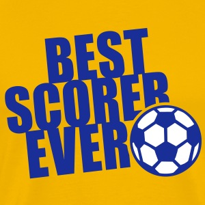 BEST SCORER EVER 2C T-Shirt NA - Mannen Premium T-shirt