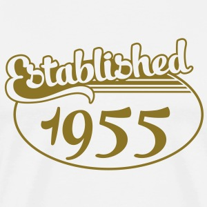 Birthday-Shirt - Geburtstag - Established 1955 (sv) T-shirts - Premium-T-shirt herr