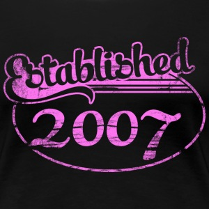 established 2007 (no) T-skjorter - Premium T-skjorte for kvinner