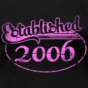 established 2006 dd (es) Camisetas - Camiseta premium mujer