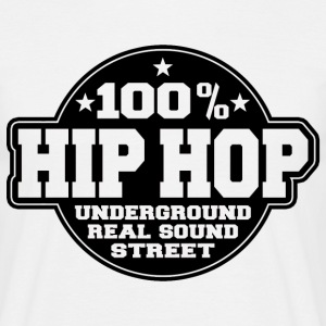 100% hip hop underground real sound street T-Shirts - Men's T-Shirt