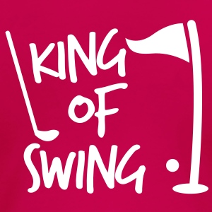 KING of SWING golf fun design with a ball club and a flag T-Shirts - Women's Premium T-Shirt