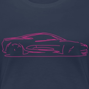 Car Sketch - Women's Premium T-Shirt