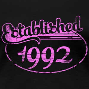 established 1992 dd (es) Camisetas - Camiseta premium mujer