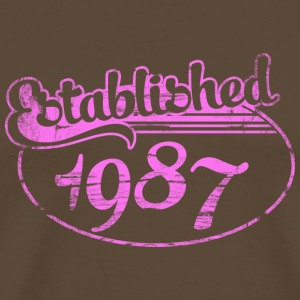 established 1987 dd (sv) T-shirts - Premium-T-shirt herr