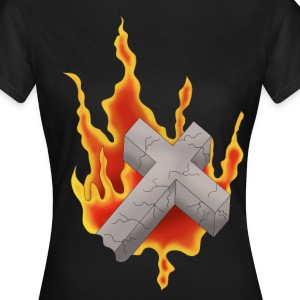 Flammender Grabstein - Frauen T-Shirt