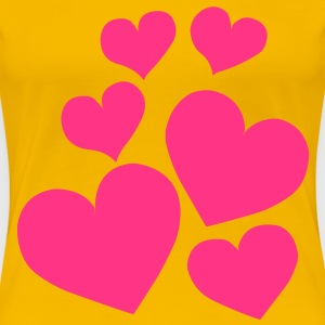 Heart Love T-Shirts - Women's Premium T-Shirt