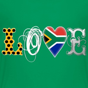Love South Africa White Shirts - Teenage Premium T-Shirt