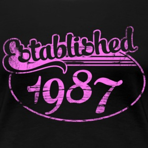established 1987 dd (es) Camisetas - Camiseta premium mujer
