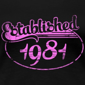 established 1981 dd (es) Camisetas - Camiseta premium mujer