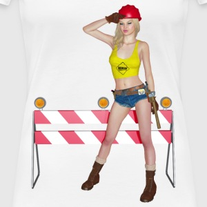 woman at work - Frauen Premium T-Shirt