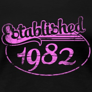 established 1982 dd (es) Camisetas - Camiseta premium mujer