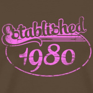 established 1980 dd (sv) T-shirts - Premium-T-shirt herr