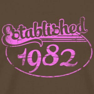 established 1982 dd (sv) T-shirts - Premium-T-shirt herr