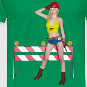 woman at work - Männer Premium T-Shirt