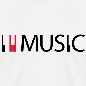 I Love Music in White - Männer Premium T-Shirt