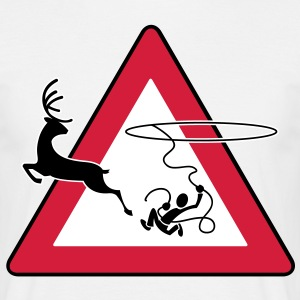 Lasso (Deer road sign) - Mannen T-shirt