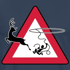 Lasso (Deer road sign) - Mannen Premium T-shirt