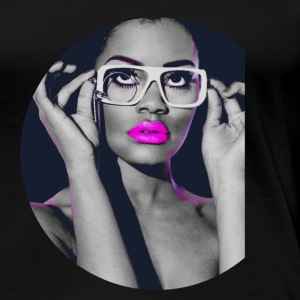 Beauty Popart with Glasses T-Shirts - Frauen Premium T-Shirt