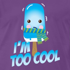Funny and cute vintage too cool freezing ice cream for cold winter and hot summer t-shirts T-Shirts - Men's Premium T-Shirt